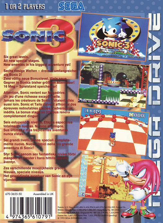 Zone 0 Sonic 3 Background Information