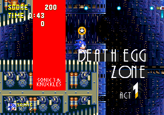Zone 0 Sonic Knuckles Death Egg Zone