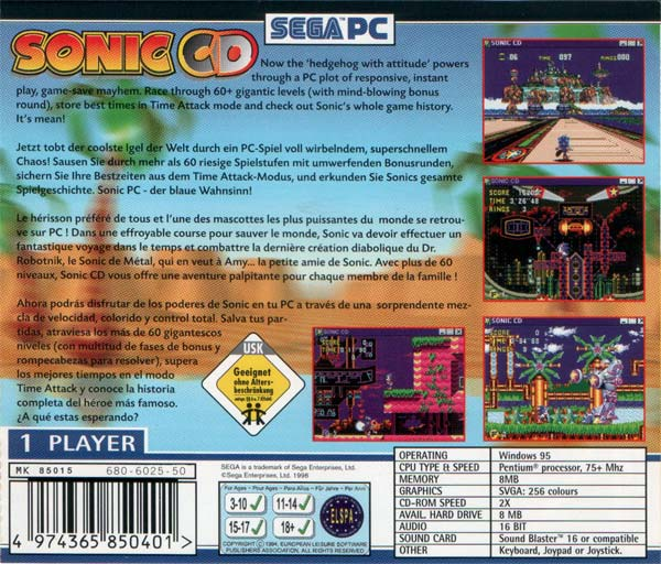 zone 0 u003e sonic cd u003e background information rh soniczone0 com Sonic CD Maual Sonic CD Cover